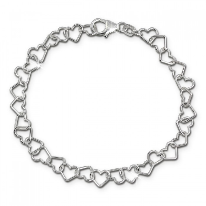 Silberdream Sda2529j 925 19cm Armband Silber Sterling Herzen Damen uKlTFc1J3