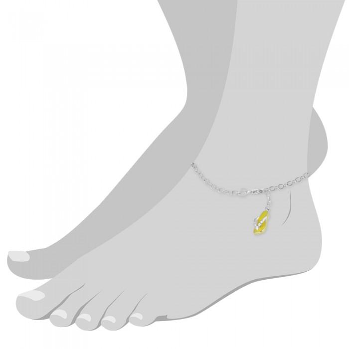 Fußkette Blümchen 27cm 925 Sterling Silber SDF2194J von SILBERDREAM