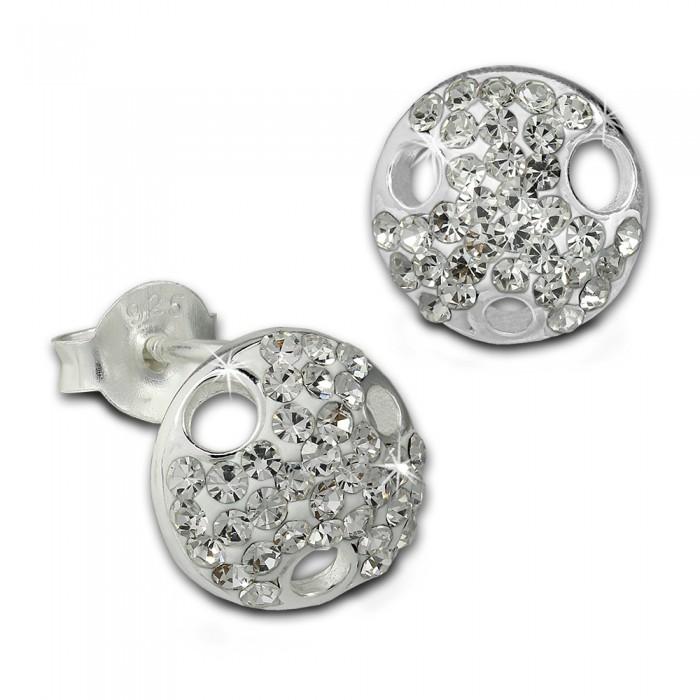 925er Silber Rund Ohrstecker Weiß Silberdream Ohrring Sdo8028w Zirkonia IgbvYf76my