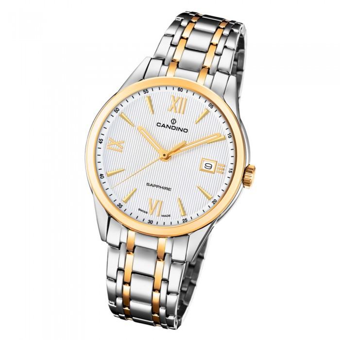 C46941 Edelstahl Gold Herren Quarz Armbanduhr Candino Uc46941 Couple Silber W9E2beIDHY