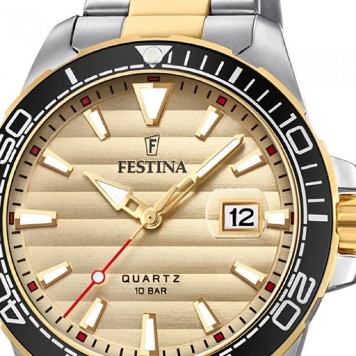Festina Armbanduhr Silber Prestige Gold Edelstahl Uf203621 Herren F203621 CoBedxr