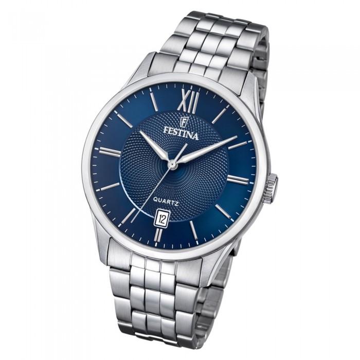 Quarz Edelstahl Festina Silber Uf204252 Klassik Armbanduhr F204252 Herren Kc1TlF3J
