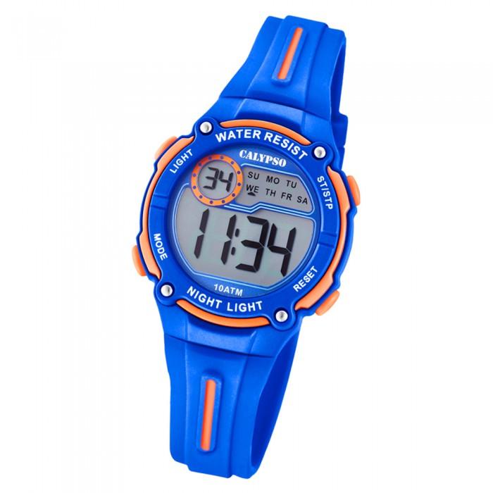 Armbanduhr kinder blau  Calypso Kinder Armbanduhr Digital Crush K6068/3 Quarz-Uhr PU blau ...