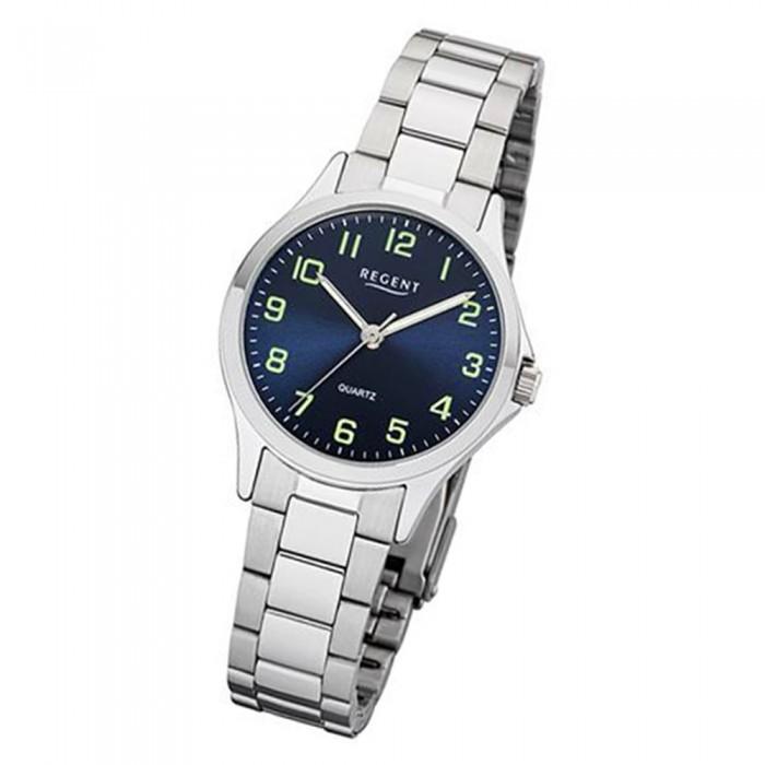 Armbanduhr 2252407 Ur2252407 Analog Silber Quarz Regent Damen Metall Uhr srCthQd