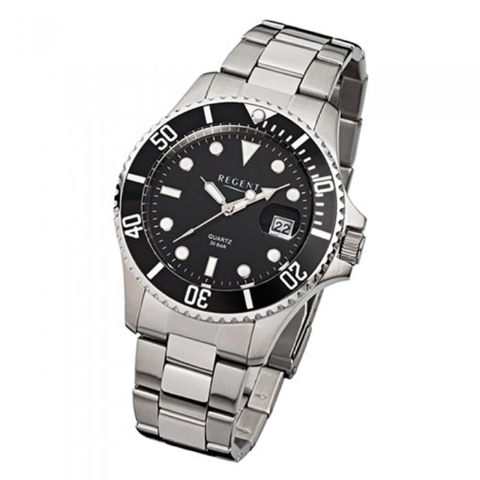 Silber Stahl Urf371 Armband Regent Quarz 371 Uhr Armbanduhr Herren F GSUzqVMp