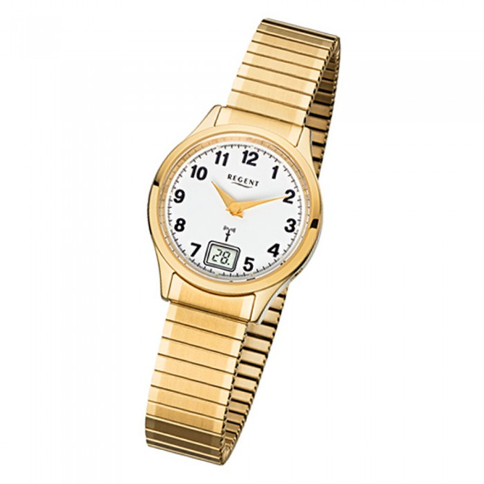 Edelstahl Urfr208 Armbanduhr 208 Gold Damen 32 Regent Fr Funkuhr Armband CBoderxW