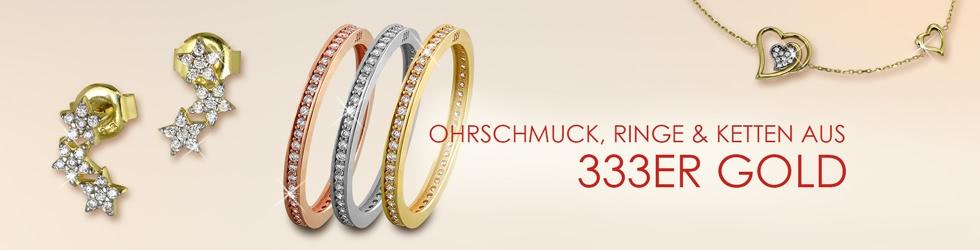 Ringe, Ohrringe und Armbänder aus 333er Gold
