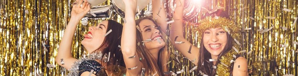 Schmuck und Uhren für die Silvester-Party und Neujahr