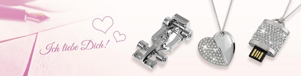 USB Schmuck zum Valentinstag