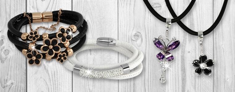 Armbänder und Ketten aus Nappa-Leder