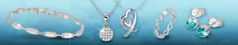 Silberschmuck Ohrringe und Ketten