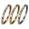 SilberDream Gold Ring Zirkonia weiß 333er Farbwahl Damen Schmuck GDR502XX