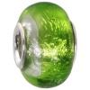 IMPPAC Glas  Bead Spacer grün European Beads  925er Silber IMPPAC Silberbeads SMB8098