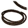 IMPPAC Leder Armband geflochten braun dreifach  925er Silber IMPPAC Silberbeads SMLA23XX