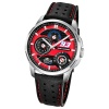 LOTUS Herren-Armbanduhr Marc Marquez Analog Quarz-Uhr Leder schwarz UL18241/2