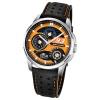 LOTUS Herren-Armbanduhr Marc Marquez Analog Quarz-Uhr Leder schwarz UL18241/3