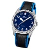 LOTUS Jugend-Armbanduhr Junior Analog Quarz-Uhr Leder schwarz blau UL18276/2