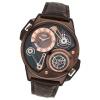 STORM Herrenuhr braun Leder Armband Uhr DUALTRON LHR BROWN UST47239/BR