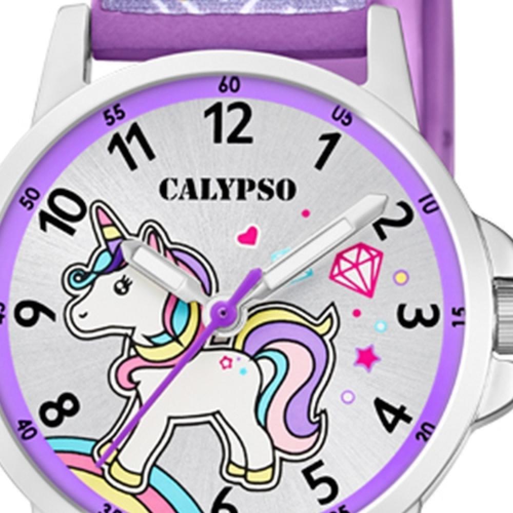 Calypso Plástico Pu Reloj Niños K5776 6 Fashion de Pulsera Púrpura Junior 25129e6e77d