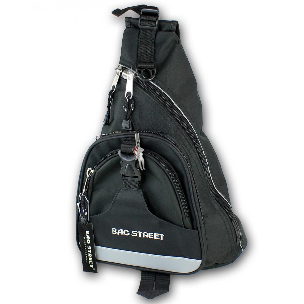 7b1870191b0e4 Bag Street Bodybag Nylon schwarz Eingurt-Rucksack Herren
