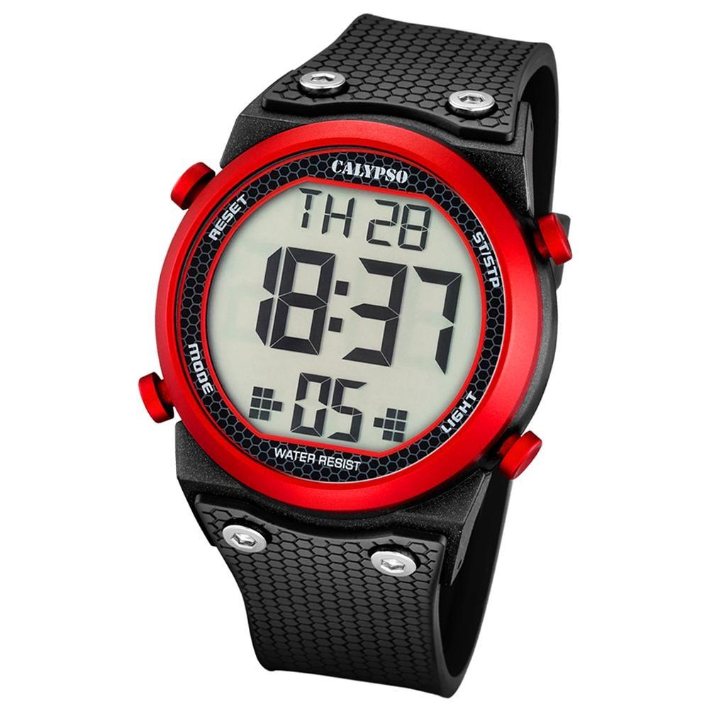 dfff68998967 Calypso Plástico Puro Reloj para Hombre K5705 2 de Pulsera Negro Digital