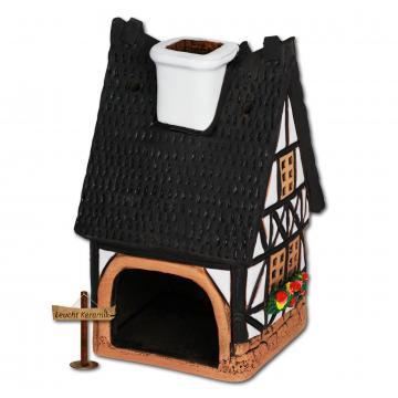 lichthaus fachwerkhaus wei original leuchtkeramik keramik haus dkh32w ebay. Black Bedroom Furniture Sets. Home Design Ideas