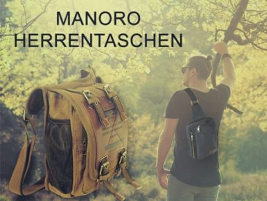 Robuste Canvas-Herrentaschen von Manoro