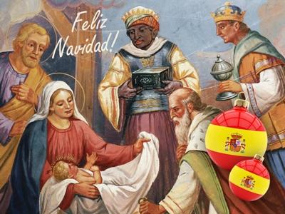 Die Heiligen Drei Könige überreichen in Spanien die Geschenke Silber Imppac