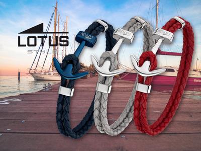 Lotus Style Armband Leder