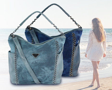 Total im Trend: Handtaschen im Denim Jeans Look
