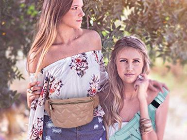 Sommerliche Taschentrends: Gürteltaschen und Strandtaschen